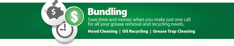 Bundle hood cleaning, grease trap cleaning, and used cooking oil recycling needs in Atlanta, Savannah, and Jacksonville with a single provider!